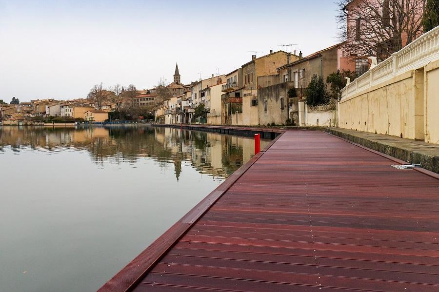 Passerelle piétonne flottante - Castelnaudary